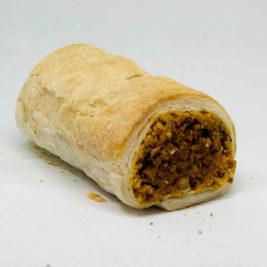 Carrot lentils courgette sausage rolls