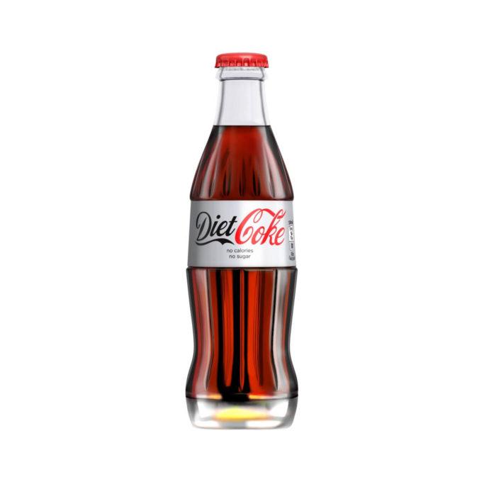 Diet coke cola 200ml bottle