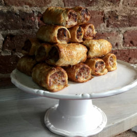 Pork cheese and marmite sausage rolls