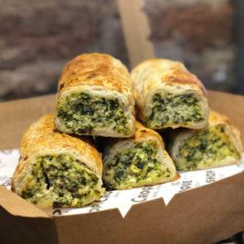 Spinach ricotta sausage rolls