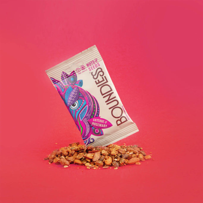 Boundless activated snacking cayenne rosemary