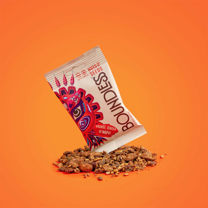 Boundless activated snacking orange ginger maple