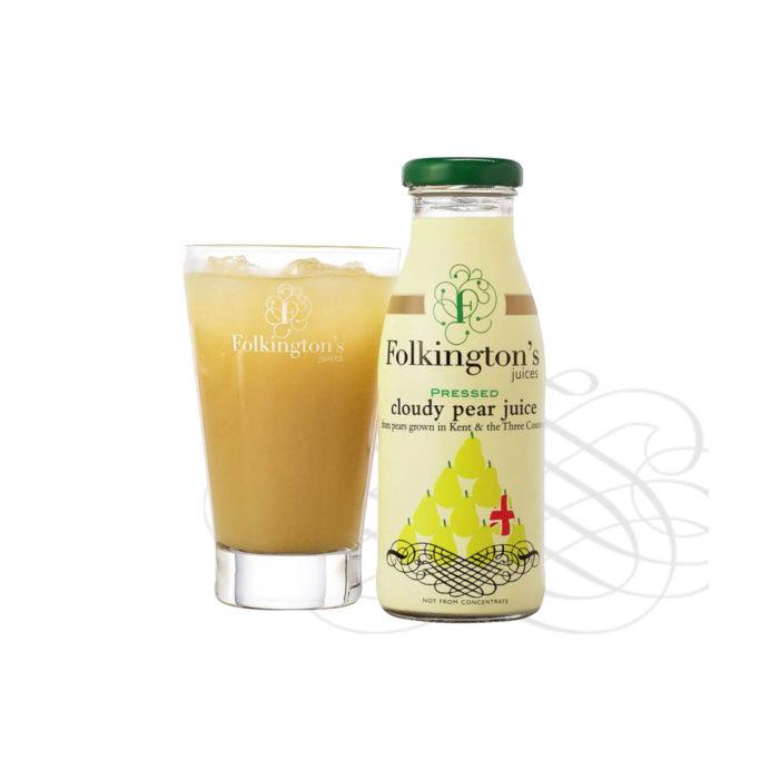 Folkingtons cloudy pear juice 12x250ml
