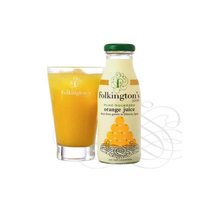 Folkingtons orange juice 12x250ml