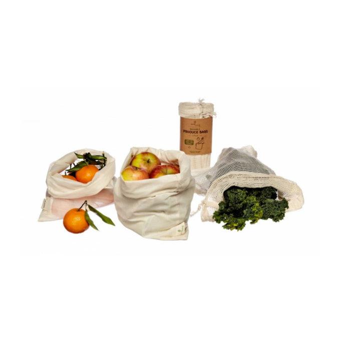 Organic produce bags & bread bag 3 pack